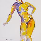 Orange Dancer # 1 by Virginia McGowan