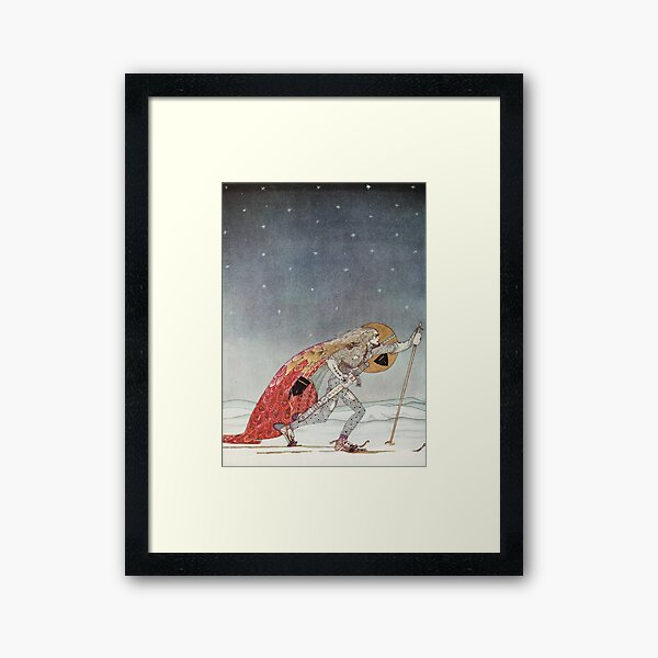 'So the man gave him a pair of snow shoes' Framed Art Print