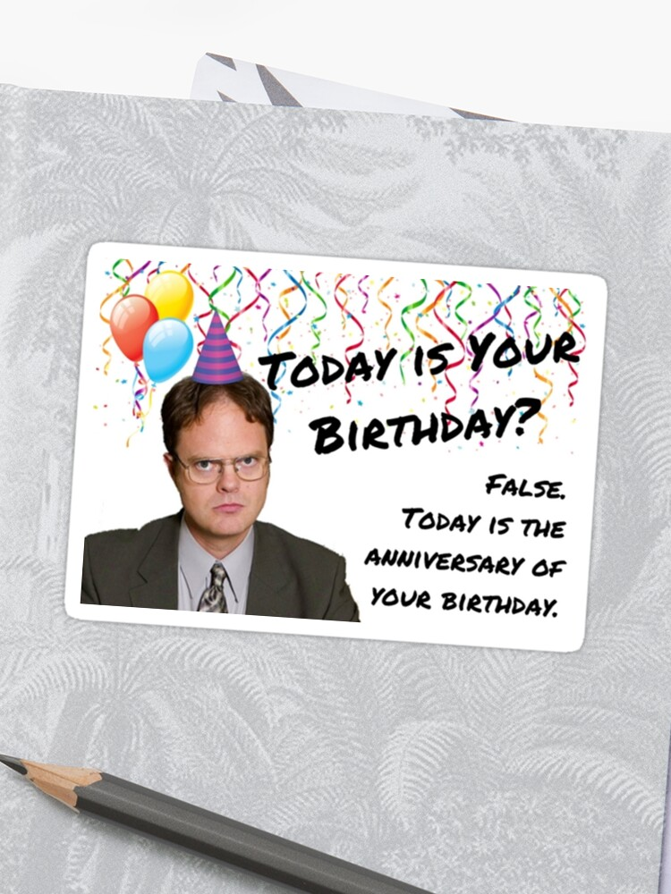 The Office Dwight Schrute Birthday Card Sticker Gift Ideas