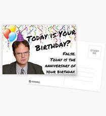 Das Büro, Dwight Schrute Geburtstagskarte, Aufkleber, Geschenkideen Postkarten