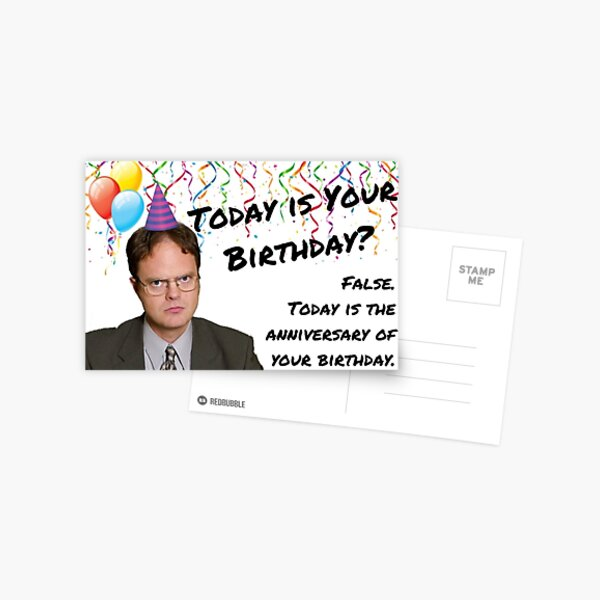 The Office, Dwight Schrute birthday Postcard