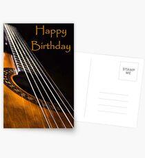 Guitar Birthday Card Postcards