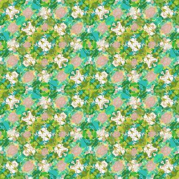 Vintage Floral Print Pattern by DFLCreative
