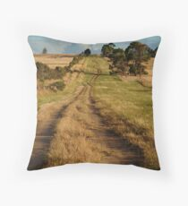 Farm Lane,Bellarine Peninsula Throw Pillow