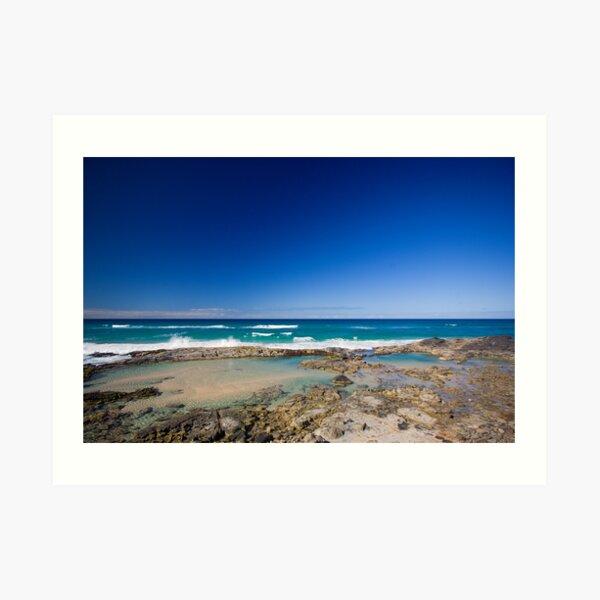 Champagne Pools, Fraser Island Art Print