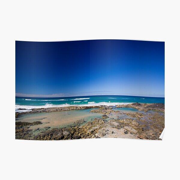 Champagne Pools, Fraser Island Poster