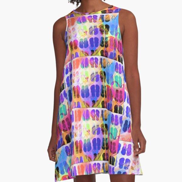 I LOVE FLIP FLOPS A-Line Dress