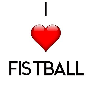 I Love Fistball centers black by Palme-Solutions