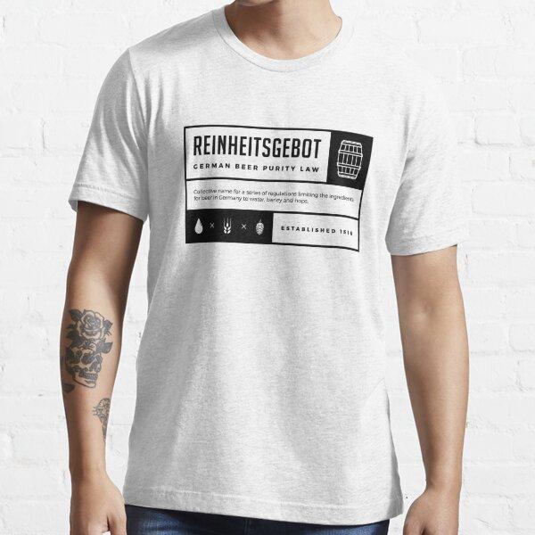 Reinheitsgebot German Beer Purity Law of 1516 Essential T-Shirt