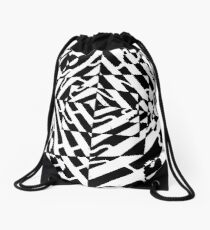 Chaos Maze Optical Illusion by Yonatan Frimer Drawstring Bag