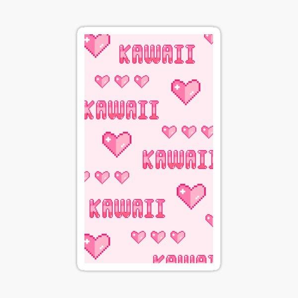 Kawaii Pink Hearts Sticker