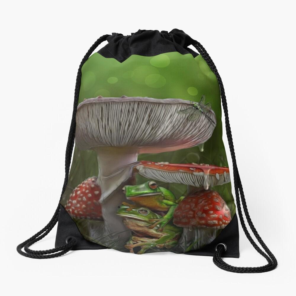 Summer Rain Drawstring Bag