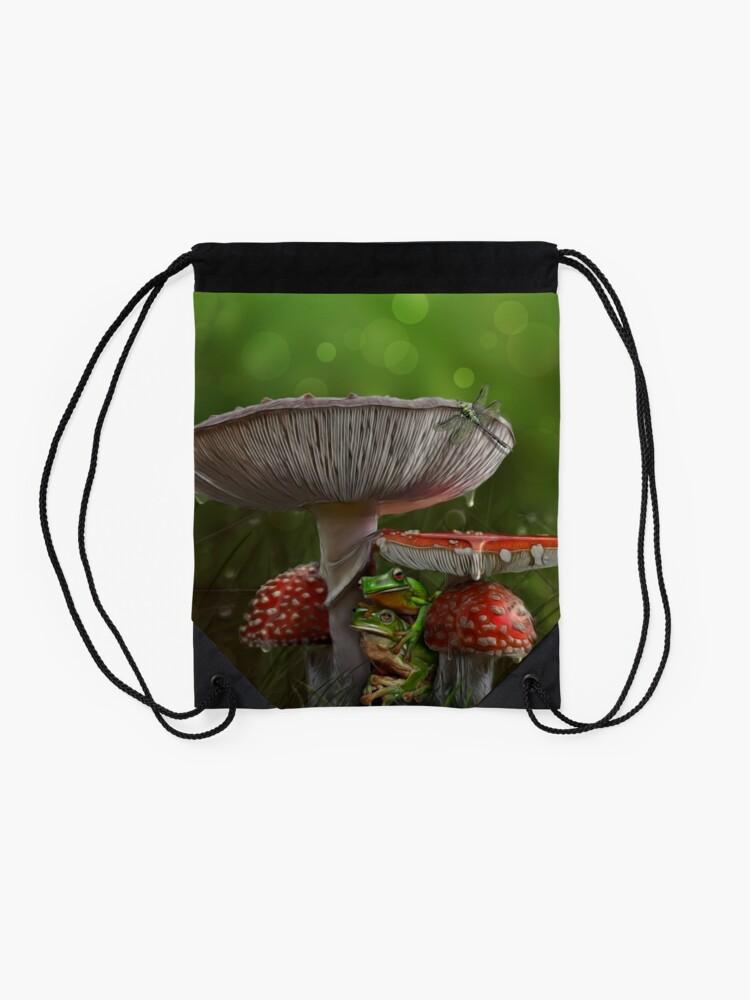 Alternate view of Summer Rain Drawstring Bag