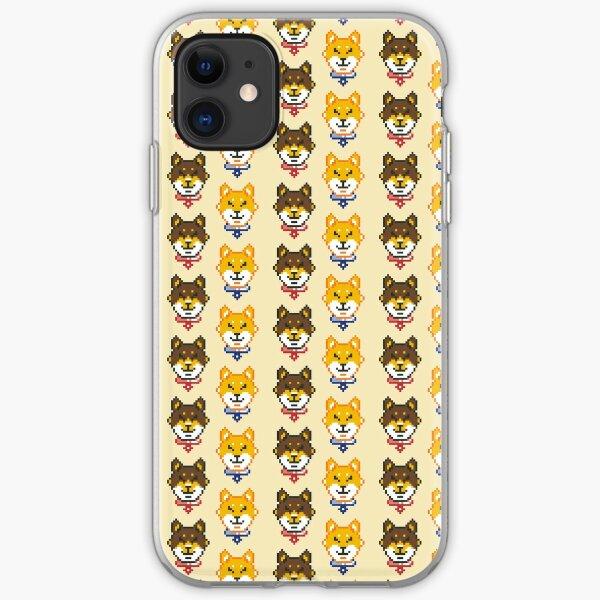 Shiba Inu Pixels iPhone Soft Case