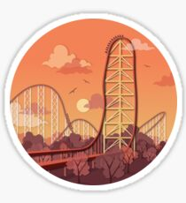 Top Thrill Dragster Roller Coaster Sticker