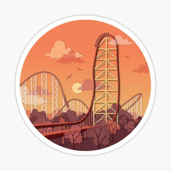 Top Thrill Dragster Roller Coaster Sticker