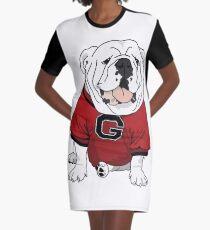 UGA Bulldog Graphic T-Shirt Dress
