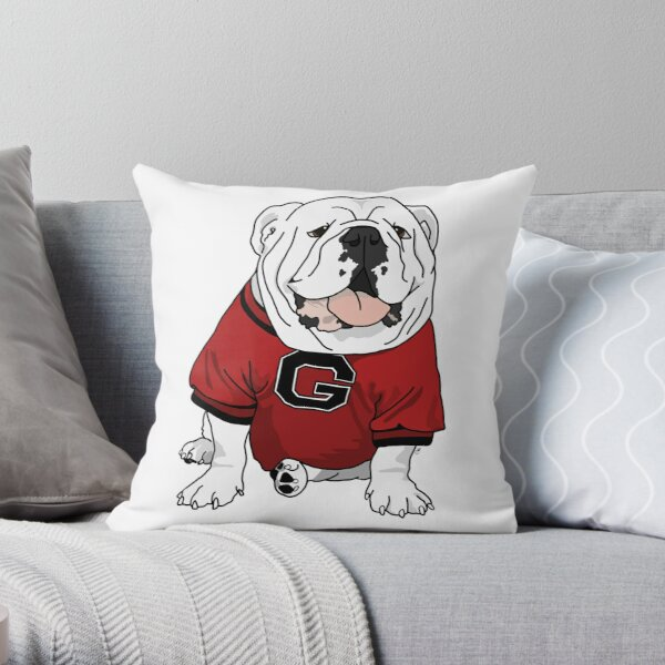 UGA Bulldog Throw Pillow