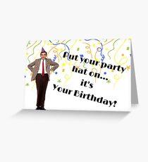 Mr Bean card, Mr Bean tv, birthday card, Nerdy card, Geek card, meme greeting cards Greeting Card