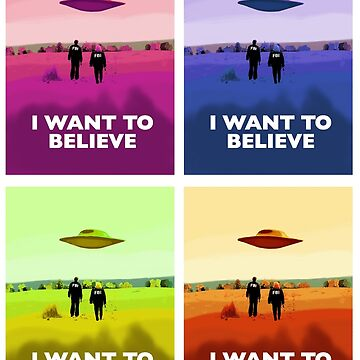 X files I want to believe x4 colors ( more 70 designs XFiles in my shop) by MimieTrouvetou
