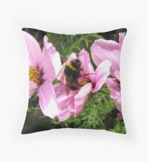 Bee Feast Throw Pillow