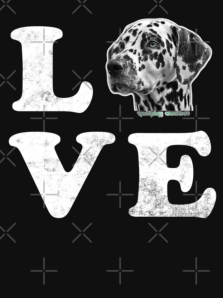 I Love My Dalmatian Spotty Dog Lovers Gift by thespottydogg