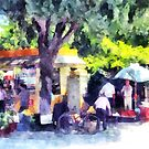 Albania: market in a street of Fier by Giuseppe Cocco