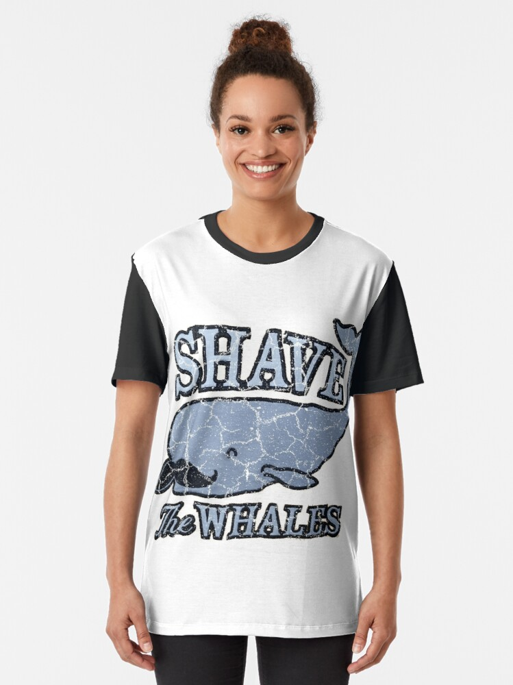 Alternate view of Shave the Whales / Pun of Save the Whales Graphic T-Shirt