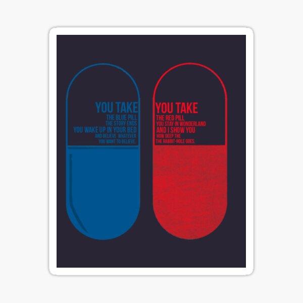 The Matrix Blue or Red pill Sticker