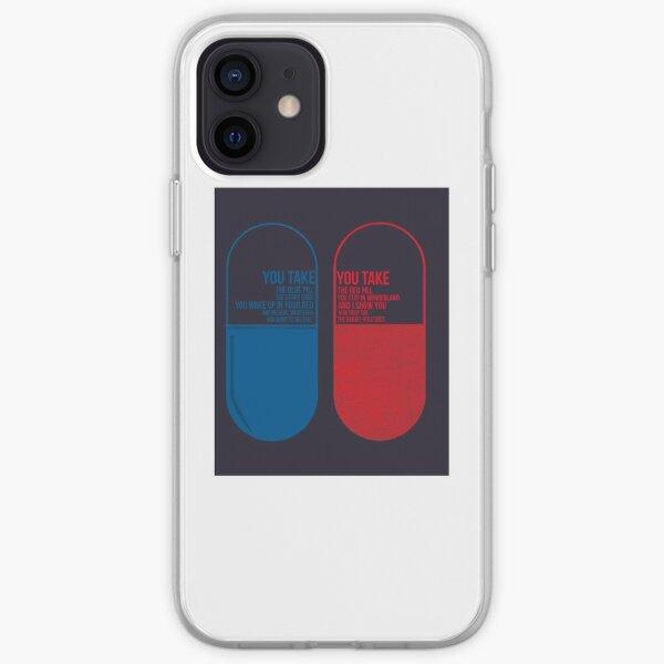 La píldora Matrix Blue o Red Funda blanda para iPhone