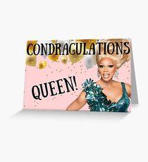 Tarjeta de felicitación Condragulations Queen, RuPauls drag race, cumpleaños, aniversario, día de la madre, día del padre, graduación, ocasión especial