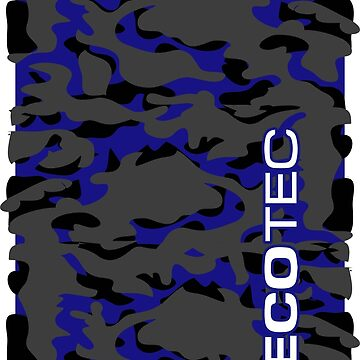 BLUE CAMO ECOTEC VERTICAL by Onevisualeye