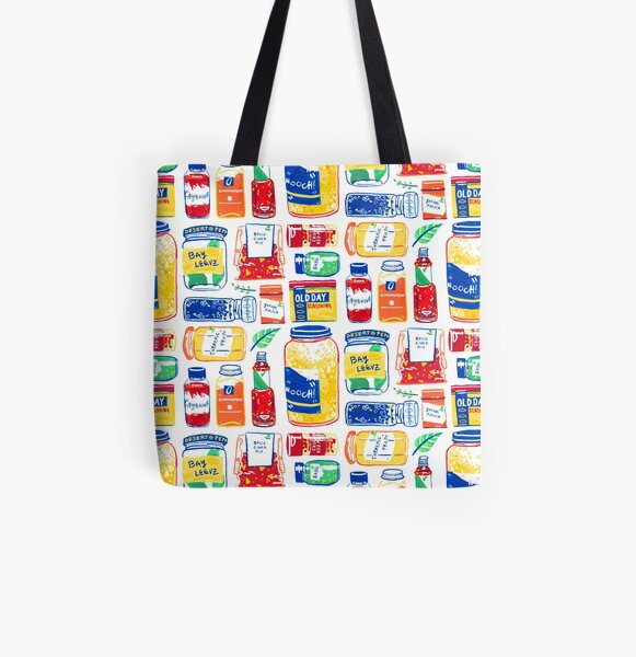 Spices Colorful Graphic Painting All Over Print Tote Bag