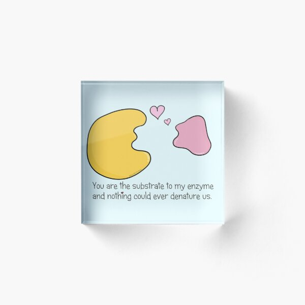 Enzyme and Substrate Love Story Acrylic Block