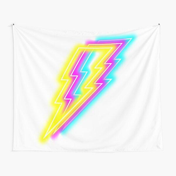 Neon Lightning Bolt Tapestry