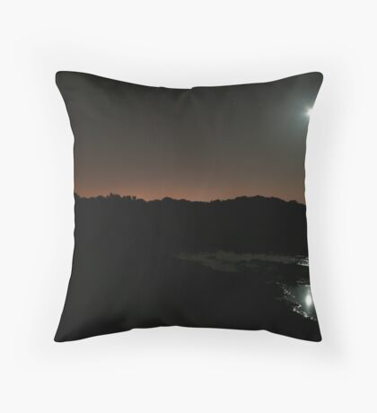 Carried Away In A Moon Light Puddle Throw Pillow