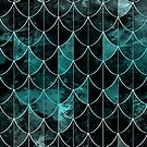 Mermaid scales. Mint and black. by VanGalt