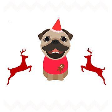 Pug Dog Ugly Christmas by aashiarsh