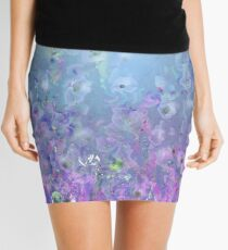 Silvery Evening Mini Skirt