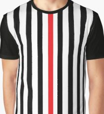 gráfica amp; amp; Stripes Black Red Camiseta Blanco Árbitro BdYqwx4