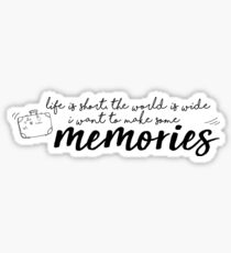 i want to make some memories! Sticker