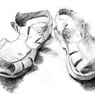 My Worn Sandals by ArtoJ