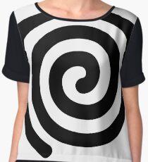 Spiral, helix, scroll, loop, volute, spire, #Spiral, #helix, #scroll, #loop, #volute, #spire  Chiffon Top