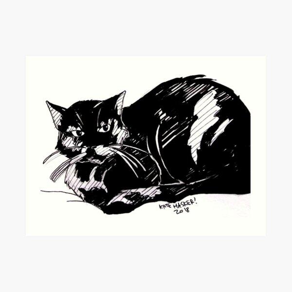Sibylla the Cat Art Print