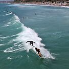 Surfing in San Clemente, California by DonnaMoore
