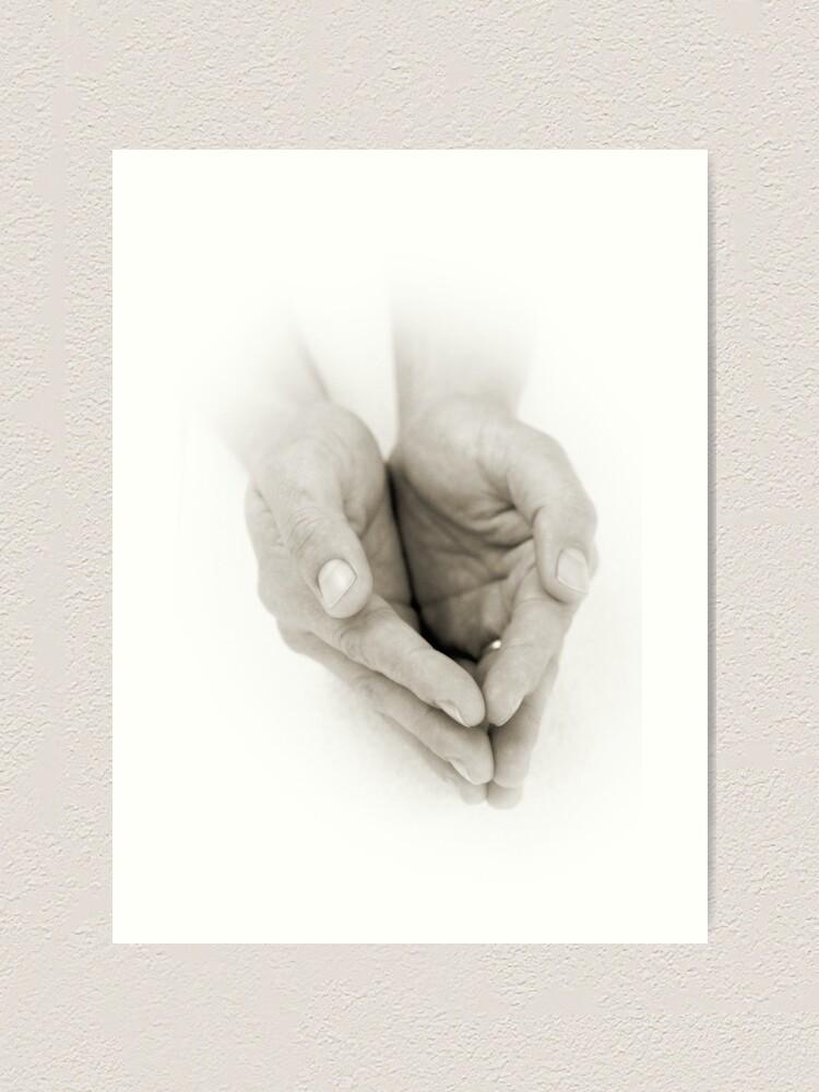 Alternate view of Hands: Receiving Art Print