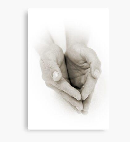 Hands: Receiving Canvas Print