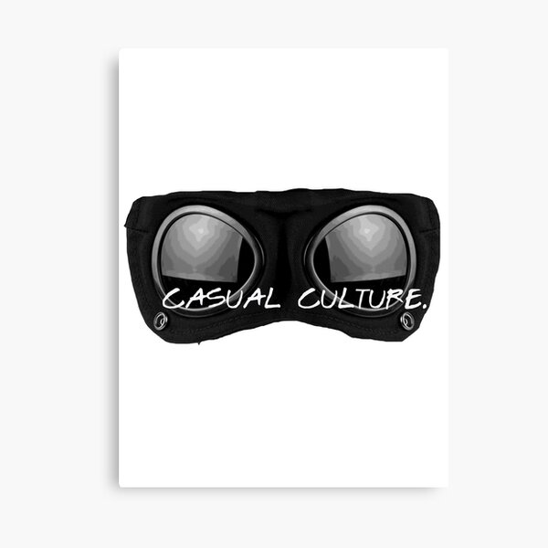 Casual Culture CP Goggles Canvas Print