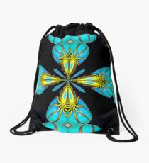 Turquoise Hearts Drawstring Bag