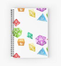 Cuaderno de espiral Conjunto de Siete Dados -Blanco-